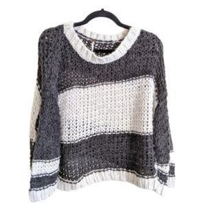 Free People Knit Stripe Pullover Sweater